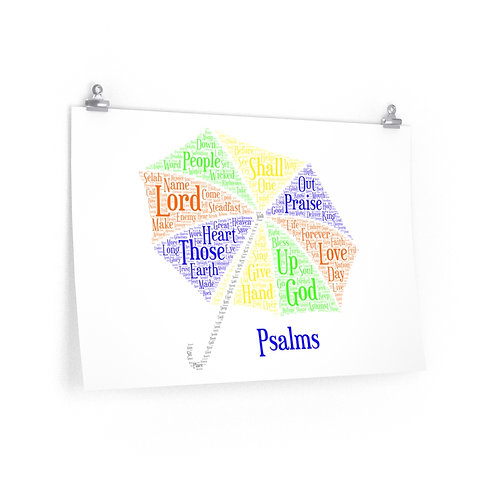Psalms Art Poster
