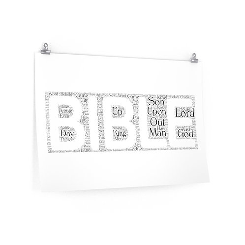 The Bible Horizontal Poster