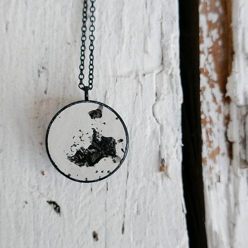 Halskette Manila - schwarz/weiß