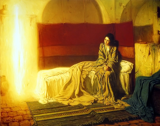 The Annunciation by Henry Ossawa Tanner.