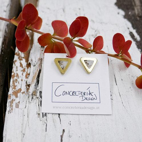 Ohrstecker Amsterdam - weiß/gold