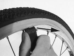 removal of pushchair tyre