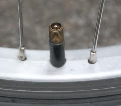 schrader valve on pushchair inner tube