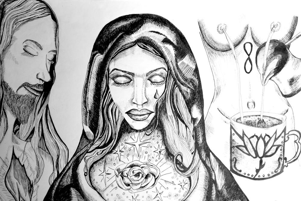 #marymagdalene #maryandjesus #therosemysteries #sacredunion #divinefeminine #divinemasculine #alchemy