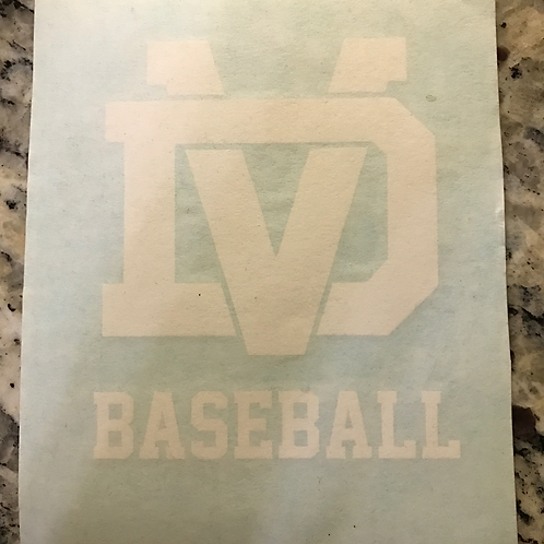 DV Baseball Car Decal