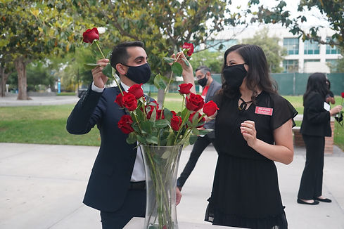 Jonathan Hay and Kait during rose ceremony