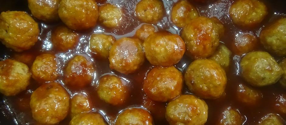 Chili Bourbon Meatballs