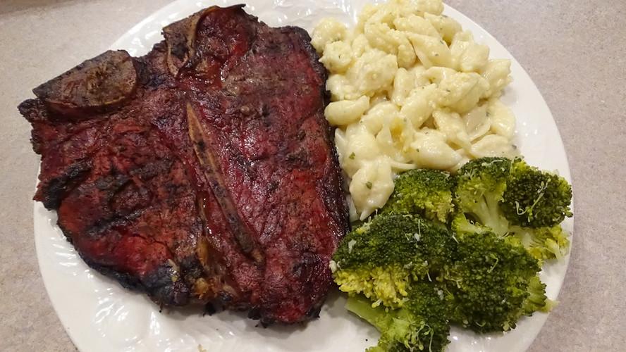 Reverse Sear Porterhouse Steaks with Cowboy Butter