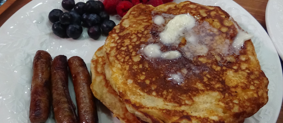 Buttermilk Pancakes and Sausage on the Blackstone Griddle