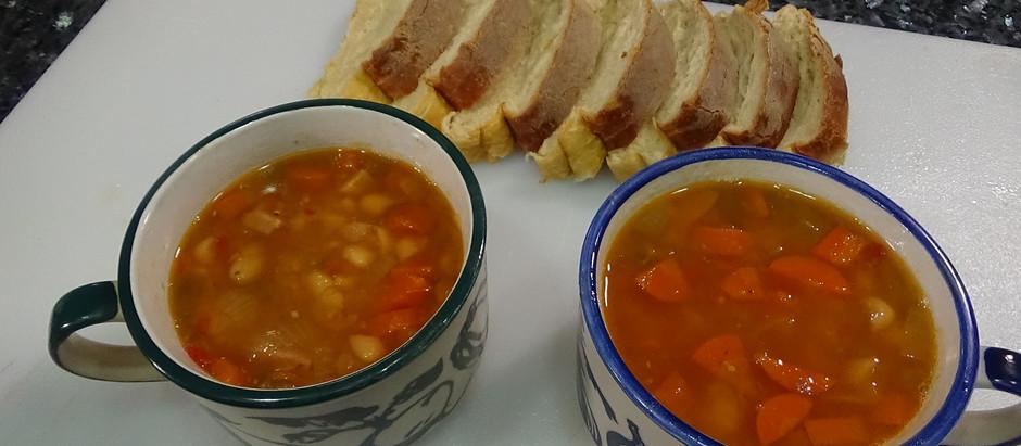 Aunt Britt's Ham & Bean Soup