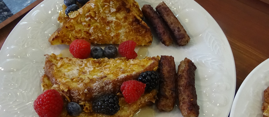 Frosted Flakes French Toast on the Blackstone Griddle