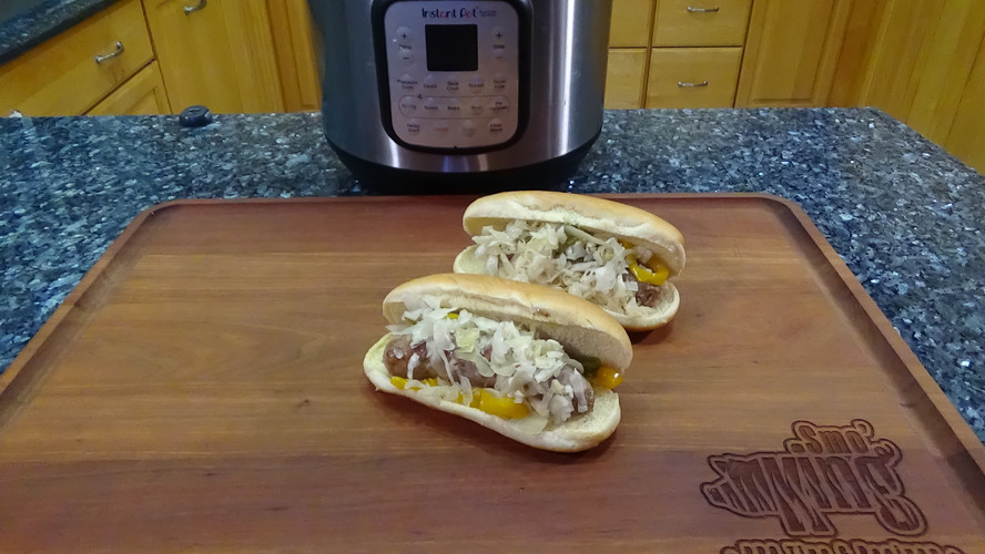 Beer Brats in the Instant Pot