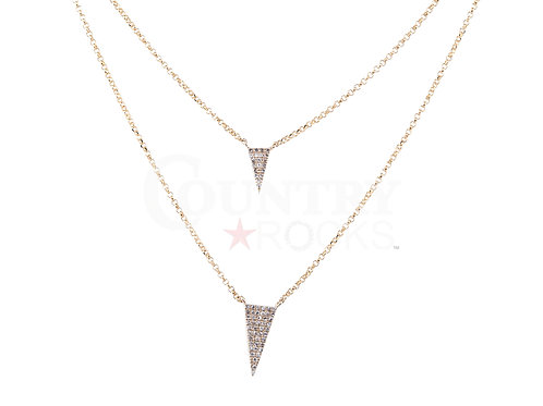 DIAMOND DOUBLE TRIANGLE NECKLACE