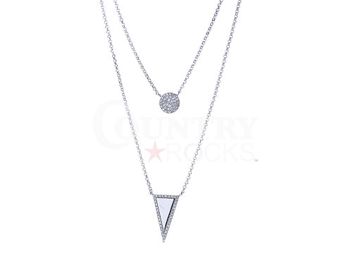 DIAMOND BUTTON AND TRIANGLE NECKLACE