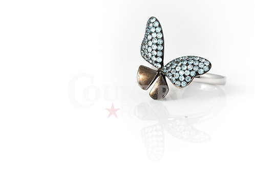 BLUE SAPPHIRE BUTTERFLY RING