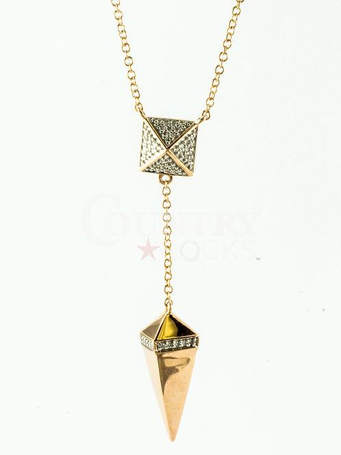 DIAMOND PYRAMID NECKLACE