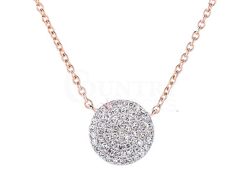 DIAMOND BUTTON NECKLACE