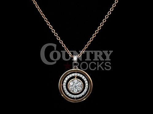 18 KT. ROSE AND WHITE GOLD DIAMOND NECKLACE
