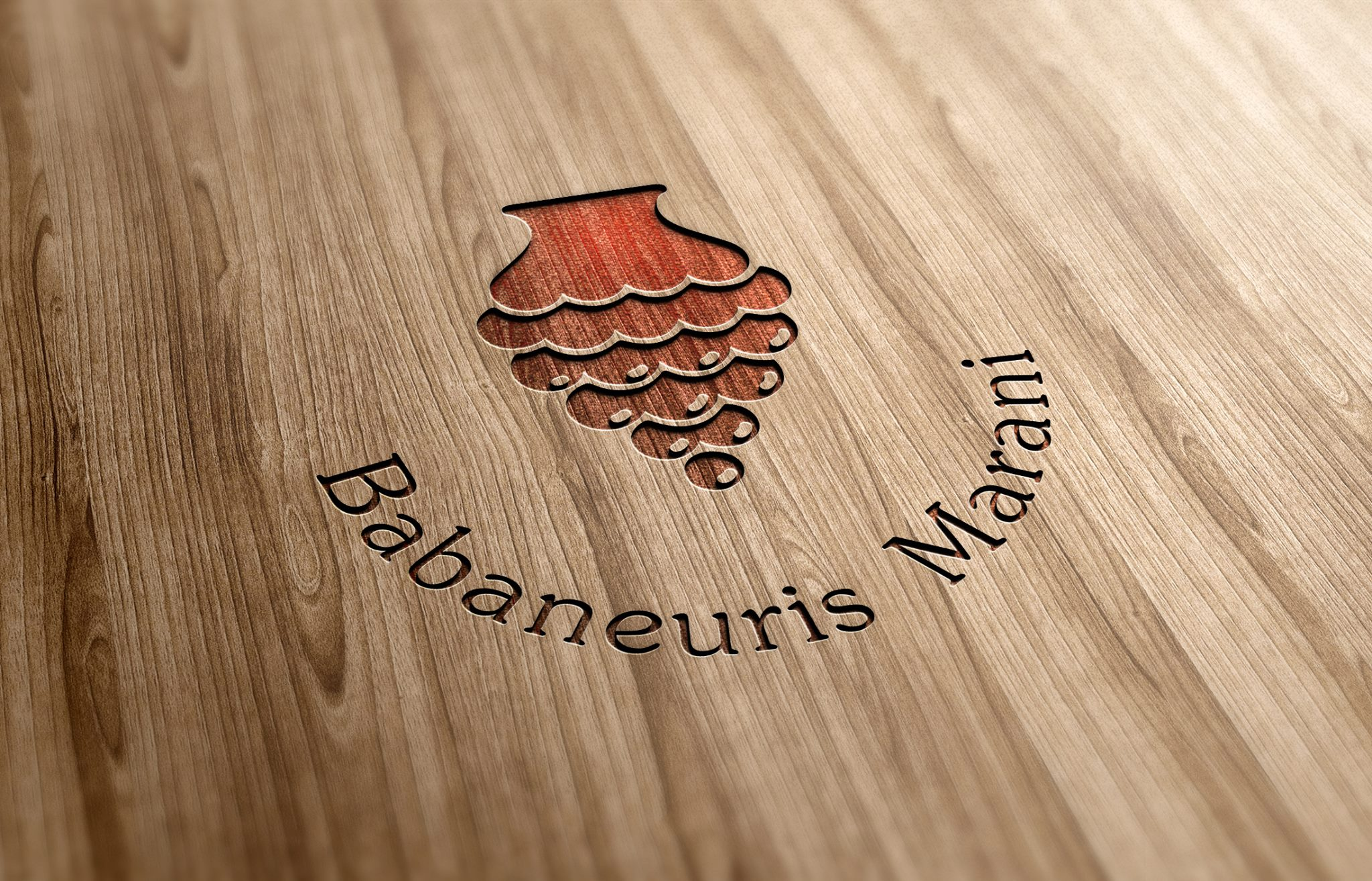 Logo in wood