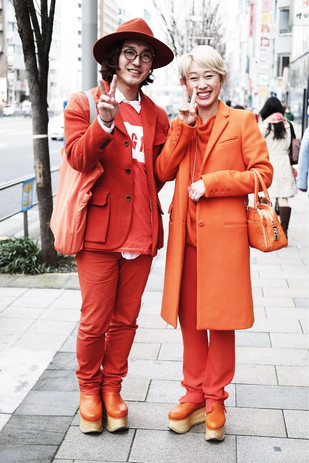 A Couple in Orange