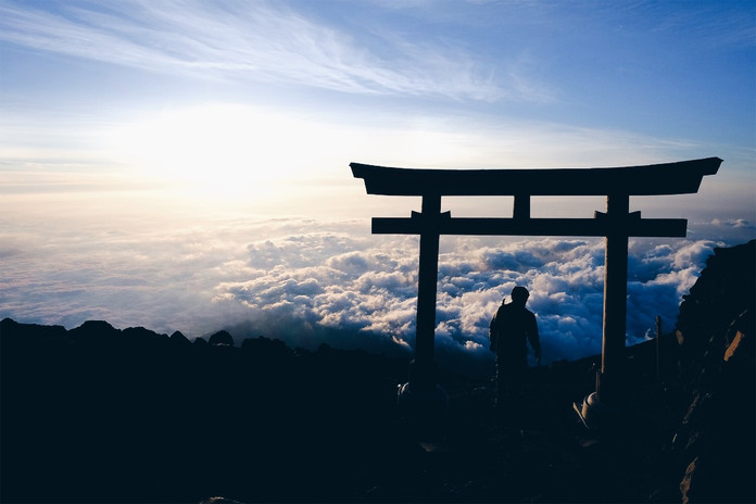 From the Top of Fuji Yama