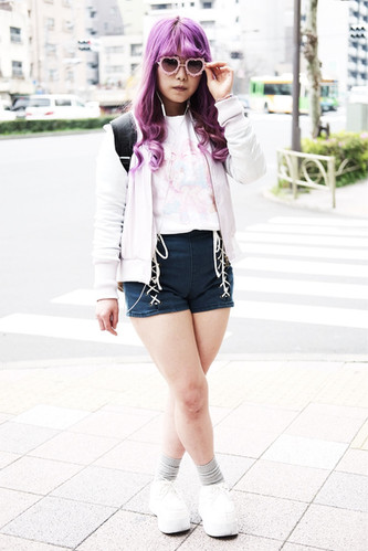 A Girl with Purple Hair