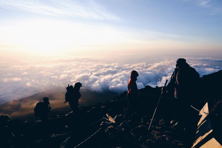 Sunrise at the Top of Fuji Yama