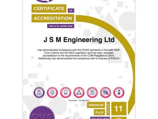 JSM Achieved CHAS Premium Plus Accreditation