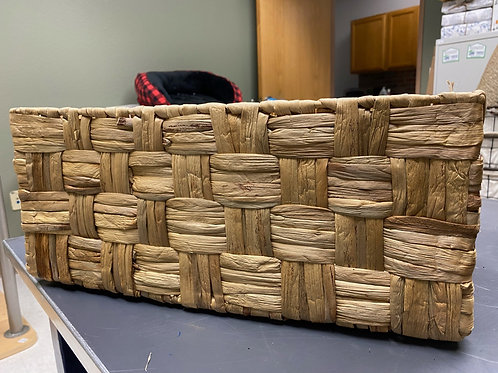 Large Woven Storage Basket- slight damage
