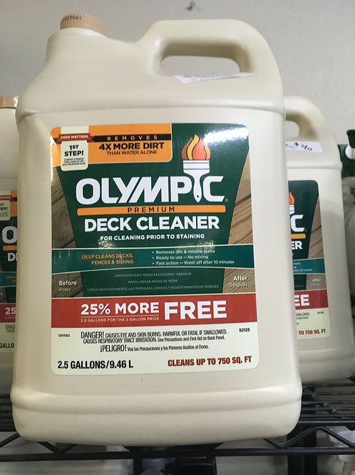 Deck Cleaner from Olympic 2.5 Gallon Bottles