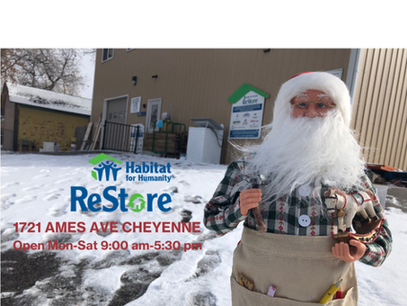 Santa is coming to town, but first he came to the ReStore (and  you should too!)