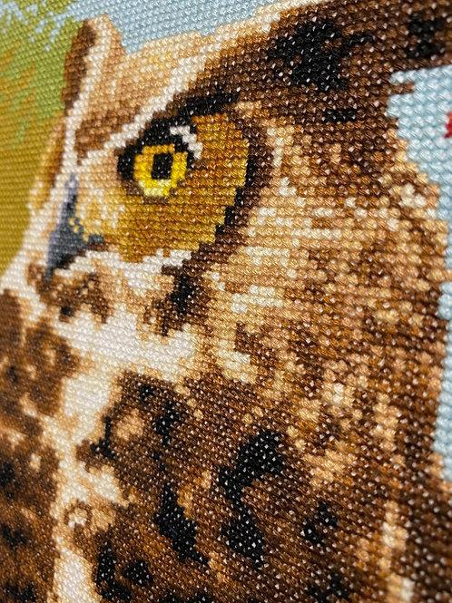 Cross Stitch Owl Art