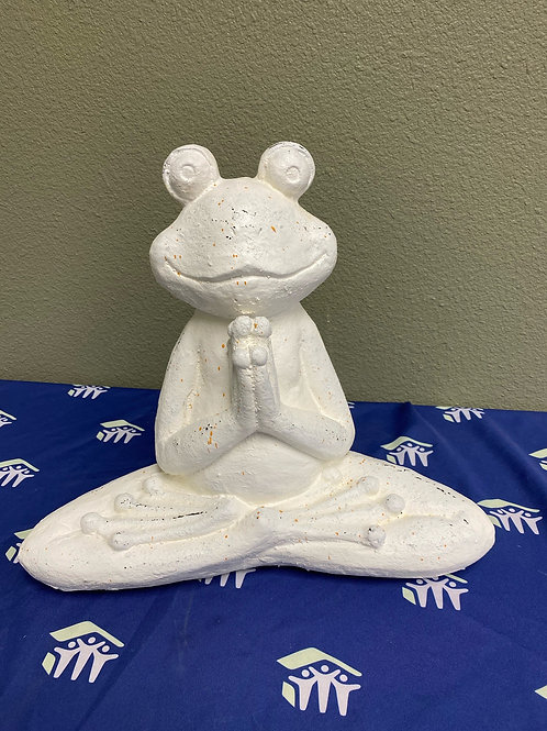 Garden Sculpture Lotus Frog