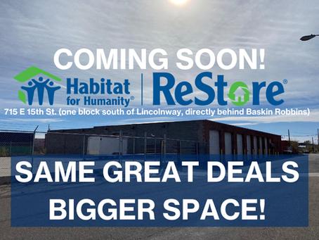 COMING SOON! A Bigger, Better ReStore!