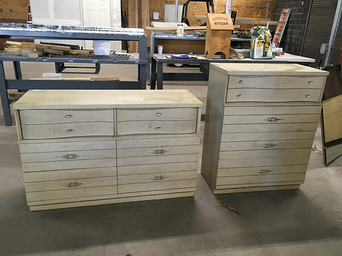 1950's Dresser Set, two dressers and mirror
