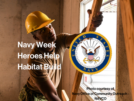 Navy Week- Sailors Build Alongside One of Their Own.