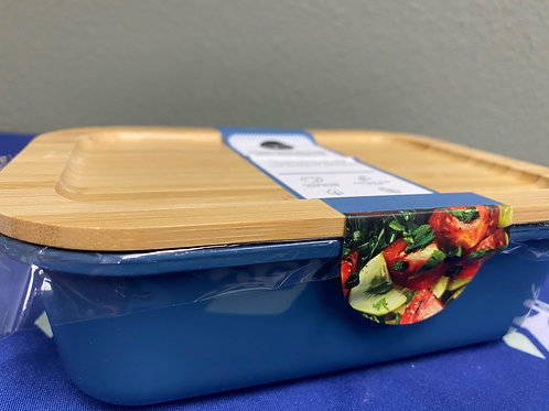 Glass Food Storage with Bamboo Lid