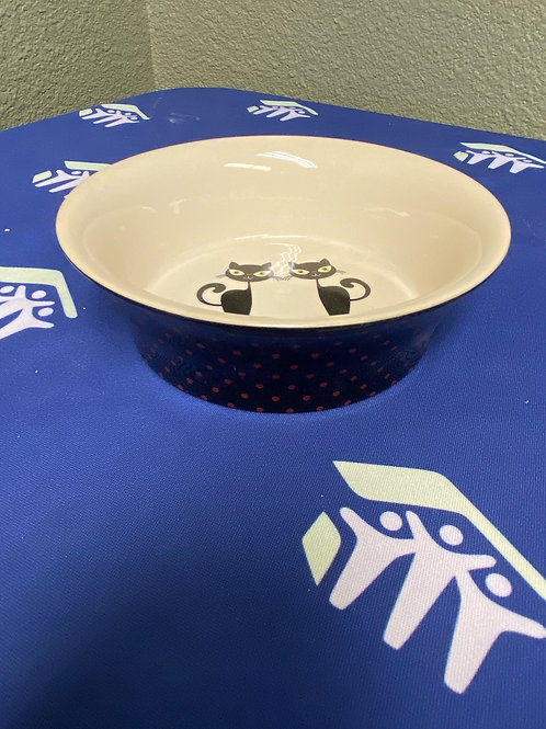 Petfood Dish-Small Polkadot Kitties