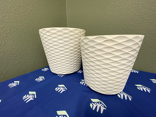 Planters- set of  2 large/medium