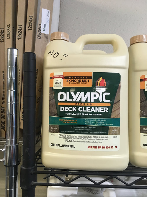 Deck Cleaner from Olympic 1 Gallon Bottles