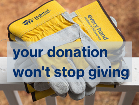 Your Donation Won't Stop Giving