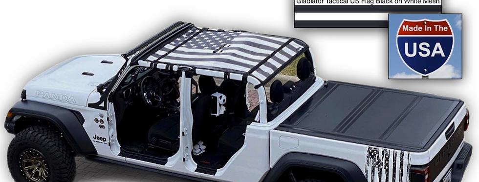 Jeep Gladiator US Flag Sun Shades