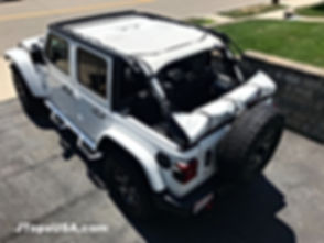 2018 Wrangler JL sun shade in white