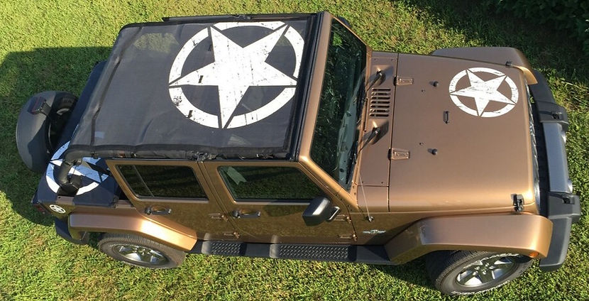 Jeep Wrangler Shade Top Set Oscar Mikey from Jeep Tops USA