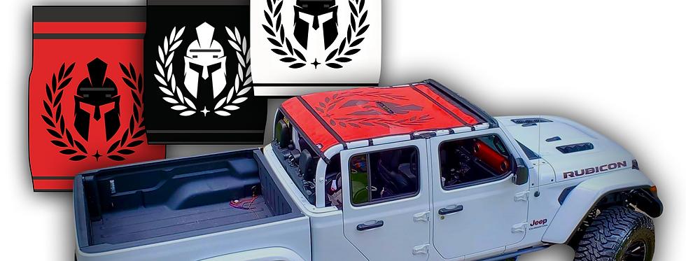 Jeep Gladiator Graphic Sun Shade (Helmet Design)