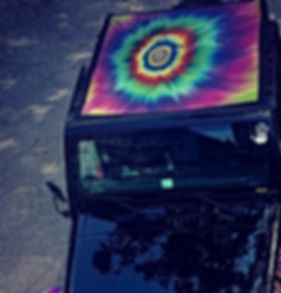 Jeep Wrangler printed mesh sun shade