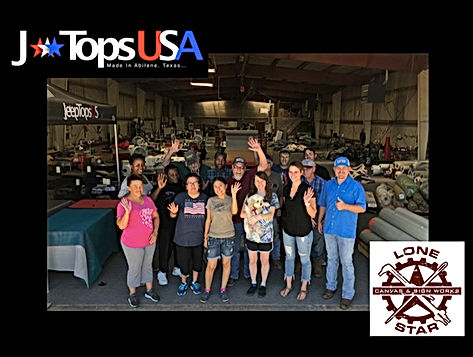 JTops USA Jeep Wrangler Accessories Manufacturing Team