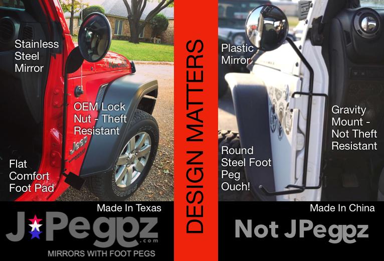 Wrangler Foot Pegs, Jeep Doors Off Mirrors