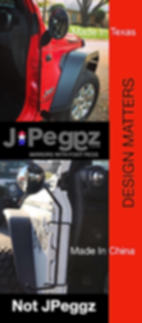 Jeep Wrangler Footpegs with Mirrors by JPEGGZ