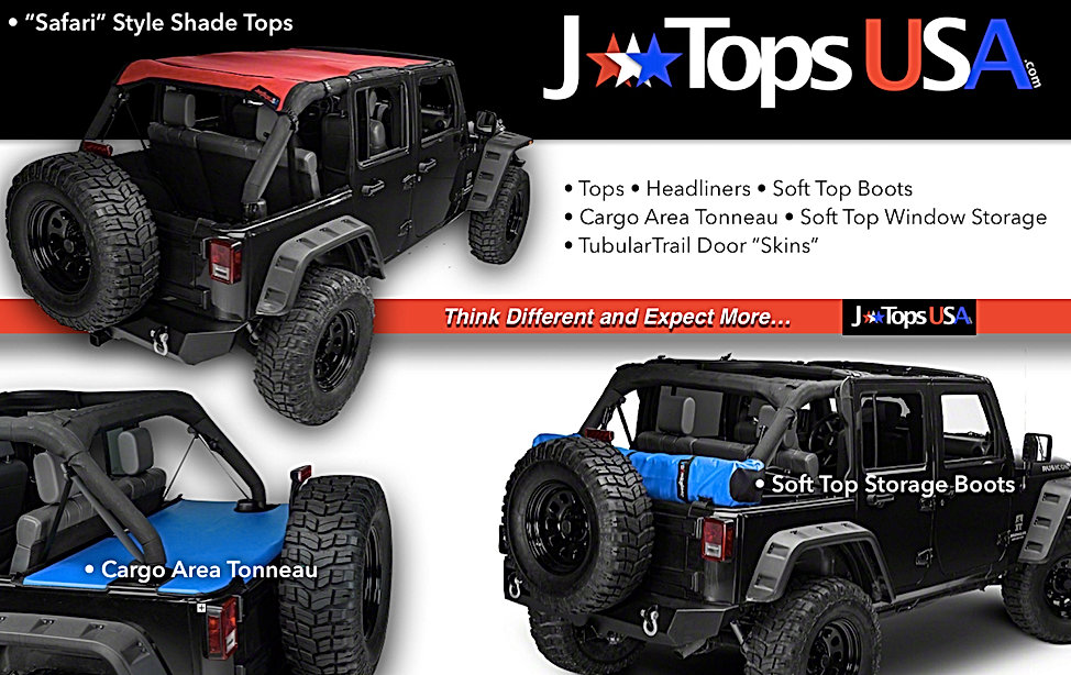 Jeep Wrangler sun shade, Jeep wrangler soft top boot, jeep wrangler tonneau covers, jtopusa jeep accessories